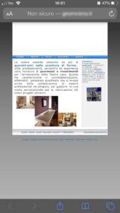 siti web vetrina